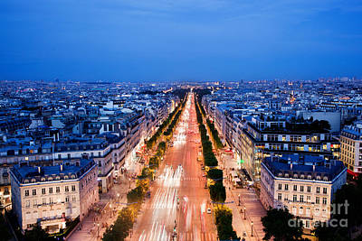 Paris Skyline Royalty-Free and Rights-Managed Images - Avenue des Champs Elysees in Paris by Michal Bednarek