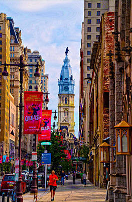 Cityhall Digital Art - Avenue Of The Arts - Broad Street by Bill Cannon
