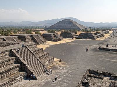 Pyramid Of The Sun Photograph - Avenue Of The Dead At Teotihuacan by Science Photo Library