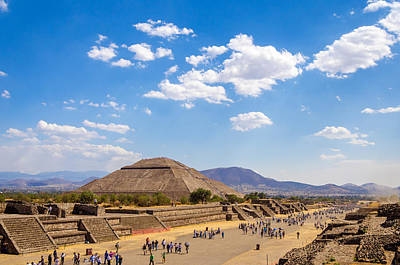 Pyramid Of The Sun Photograph - Avenue Of The Dead by Jess Kraft