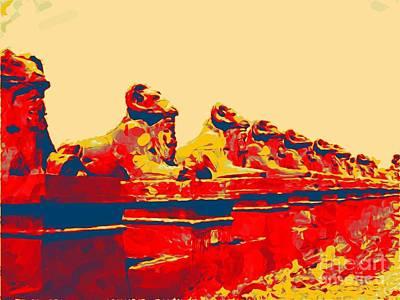 City Of Halifax Digital Art - Avenue Of The Sphinx Technocolor by John Malone