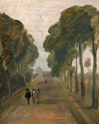 Avenue With Figures, Unknown Artist, 19th Century Art Print by Litz Collection