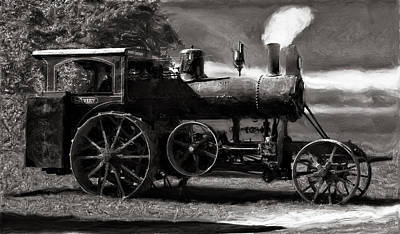 Keck Photograph - Avery Sawmill Special Vintage Steam Engine B And W by F Leblanc