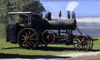 Avery Sawmill Special Vintage Steam Engine Art Print by F Leblanc