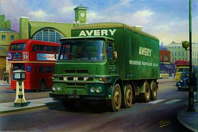 Old Bus Stations Painting - Avery's Erf Lv by Mike  Jeffries