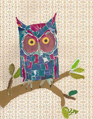 Mixed Media - Avery's Owl by Brian Fuchs