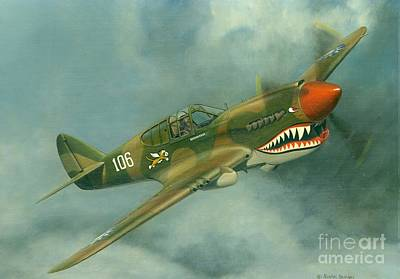 Avg Flying Tiger Art Print by Michael Swanson