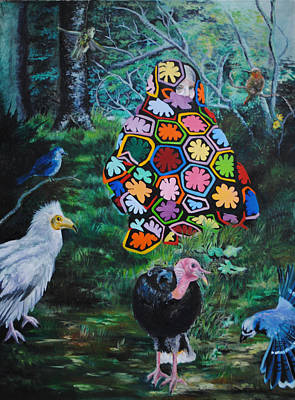Avian Woodland Original by Sonja Funnell