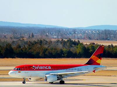 319 Photograph - Avianca Airbus 319 by Christopher Westbrook