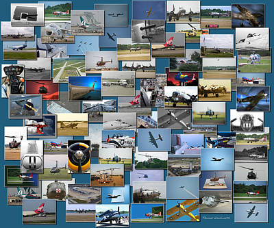 Aviation Collage Art Print by Thomas Woolworth