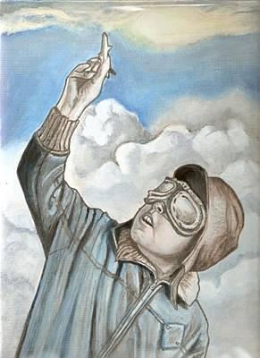 Aviator Oil Painting Original