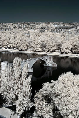 Photograph - Avignon Bridge Infrared by John Rizzuto