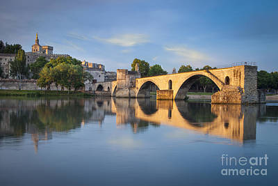 River Scenes Photograph - Avignon Dawn by Brian Jannsen