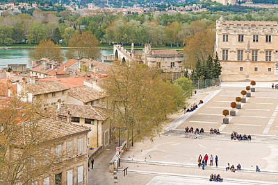 Photograph - Avignon France View From The Roof Of Popes Palace by Marek Poplawski