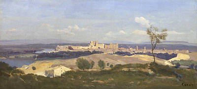 Avignon From The West Art Print by Jean-Baptiste-Camille Corot