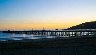 Avila Beach Pier Sunset Art Print