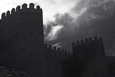Photograph - Avila Wall In Silhouette by Lorraine Devon Wilke