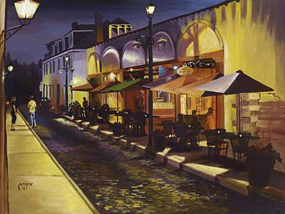 St. Augustine Florida Painting - Aviles Street by Caroline Conkin