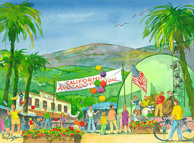 Avocado Festival Art Print by Ray Cole