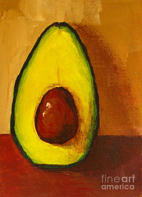 Food And Beverage Painting - Avocado Palta 7 - Modern Art by Patricia Awapara