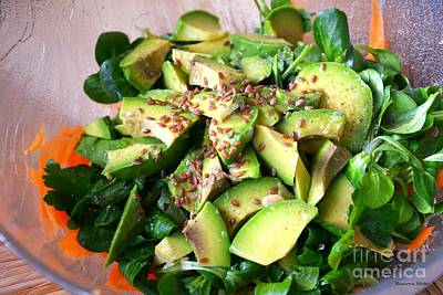 Snack Bar Photograph - Avocado Salad by Ramona Matei