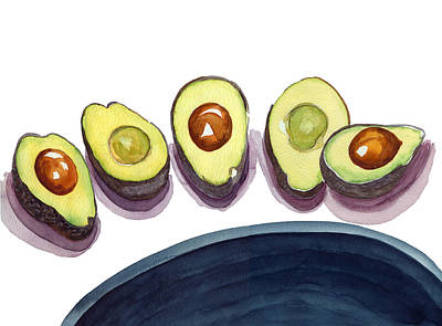Painting - Avocados by Katherine Miller