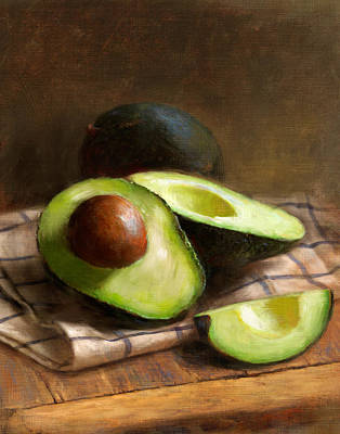 Food And Beverage Painting - Avocados by Robert Papp