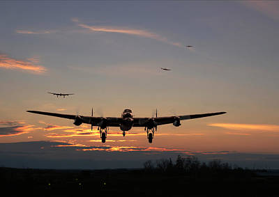 Avro Lancaster - Dawn Return Art Print by Pat Speirs