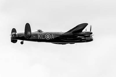 Photograph - Avro Lancaster Pa474 Black And White Version by Gary Eason