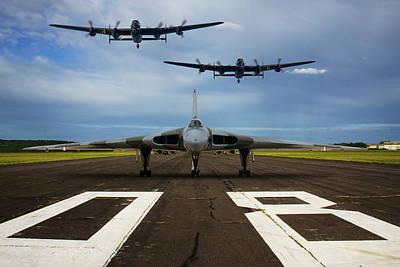 Photograph - Avro Trio Flypast by Ken Brannen