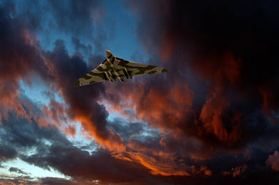 Photograph - Avro Vulcan At Sunset by Gary Eason