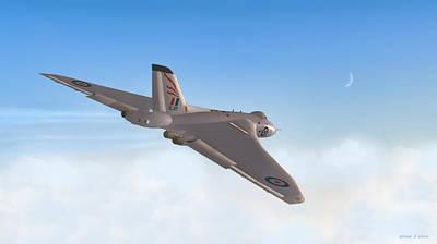 Digital Art - Avro Vulcan by Walter Colvin