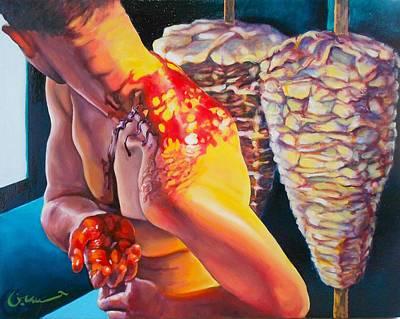 Figurative Painting - Awa'il 2 by Khalid Hussein