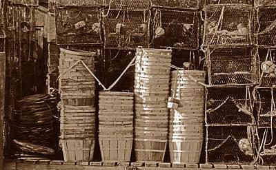 Crab Basket Photograph - Awaiting The Season by Skip Willits