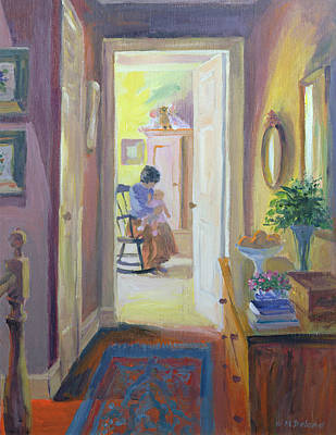Rocking Chairs Photograph - Awake Oil On Board by William Ireland