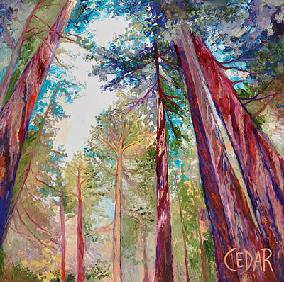 Giant Sequoia Painting - Awakened Hope by Cedar Lee