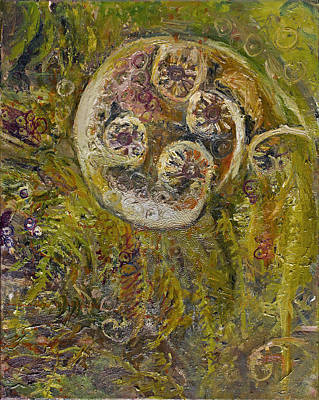 Painting - Awakening Fiddle Head Fern by Patricia Trudeau