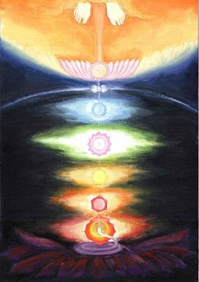 Painting - Awakening Of Kundalini By The Mighty Descent by Shiva  Vangara