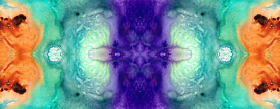 Kaleidoscope Painting - Awakening Spirit - Pattern Art By Sharon Cummings by Sharon Cummings
