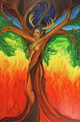Awakening The Chakra Tree Original by Jennifer Christenson