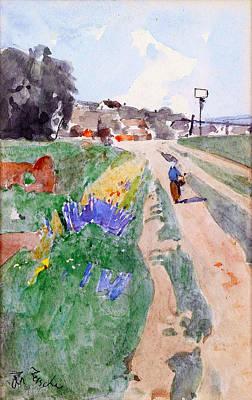 Away At Hadersdorf Art Print by Eduard Zetsche