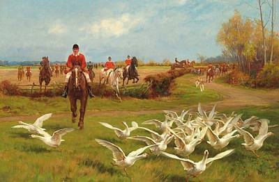 Geese Painting - Away Away by Thomas Blinks