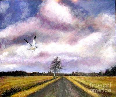 Painting - Away From The Flock by Marie-Line Vasseur