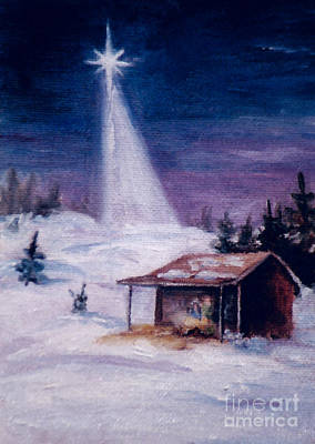Painting - Away In A Manger by Brenda Thour