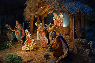 Away In The Manger  Art Print by Susan  McMenamin