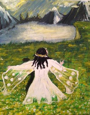 Art Print featuring the painting Awe by Brindha Naveen