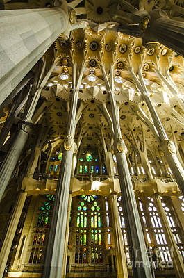 Photograph - Awe-inspiring Sagrada Interior by Deborah Smolinske