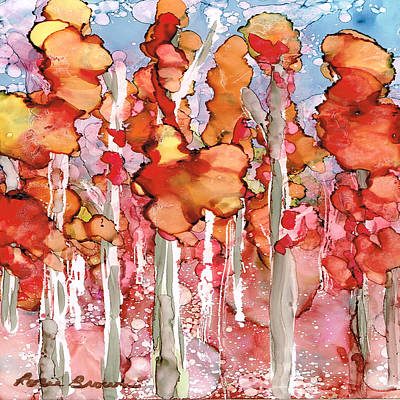 Painting - Awesome Autumn by Rosie Brown