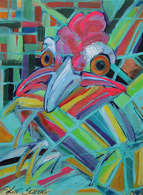 Painting - Awesome Chicken by Jeff Seaberg