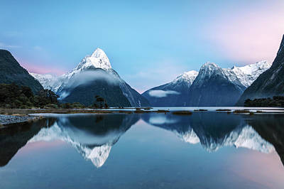Awesome Sunrise At Milford Sound, New Art Print by Matteo Colombo